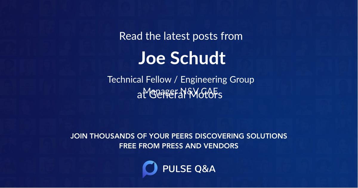Joe Schudt