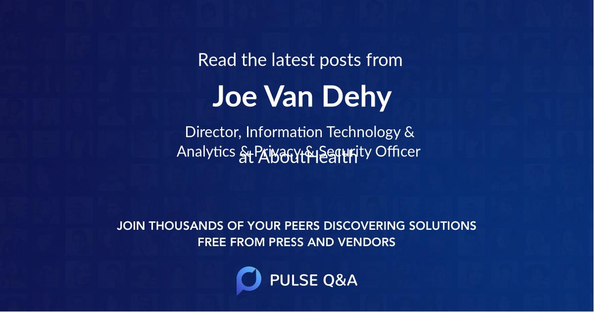 Joe Van Dehy
