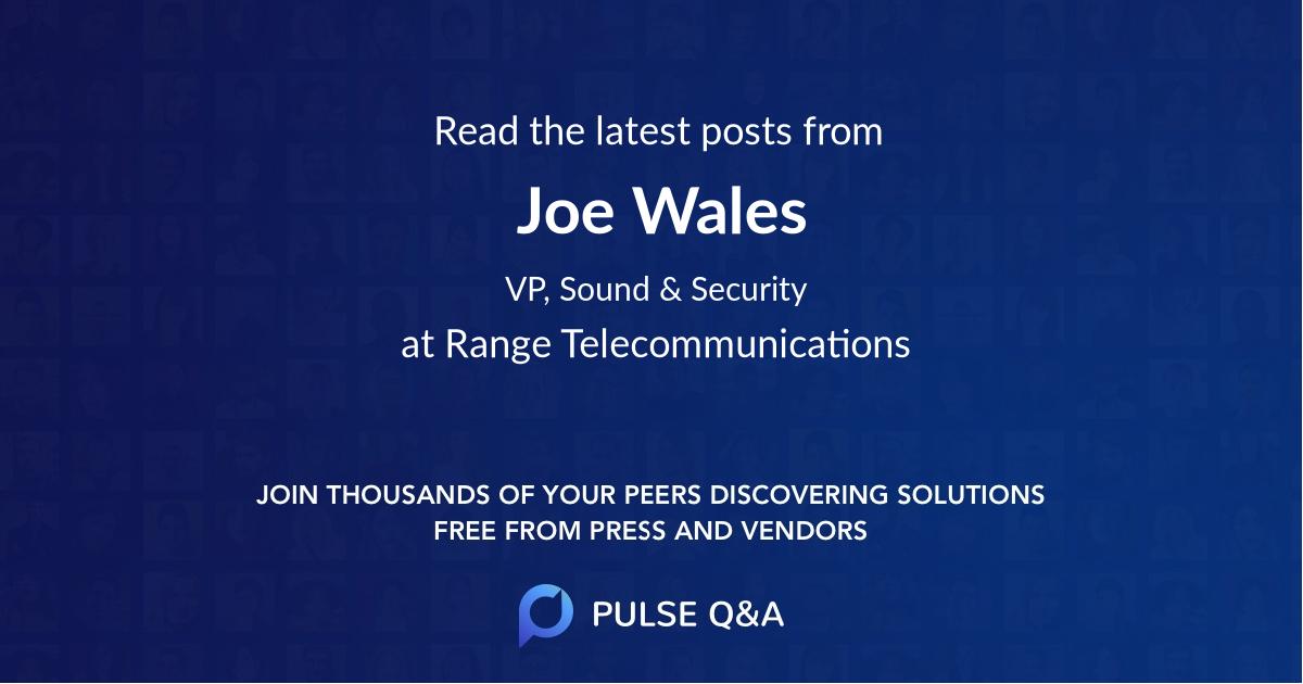 Joe Wales