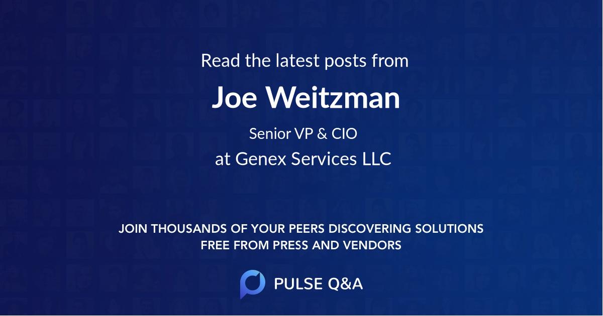 Joe Weitzman