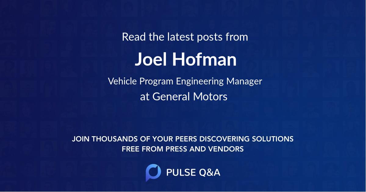 Joel Hofman