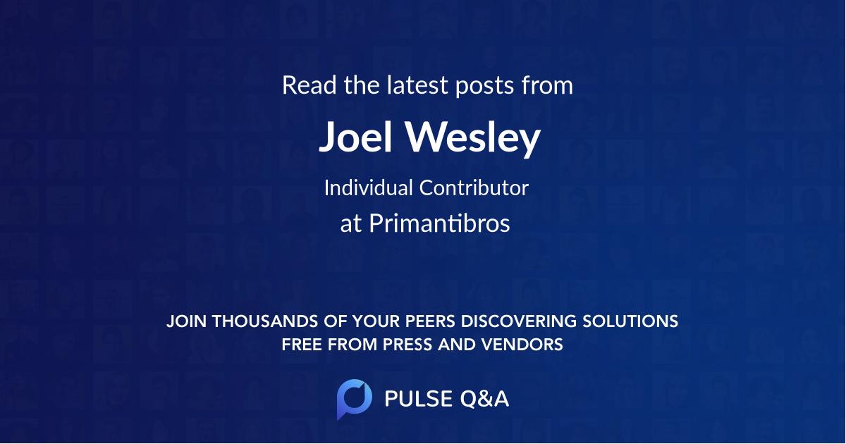 Joel Wesley