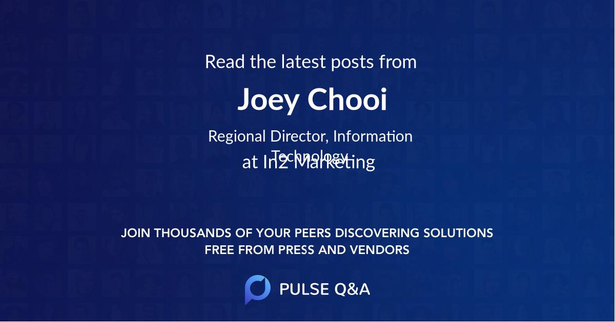 Joey Chooi