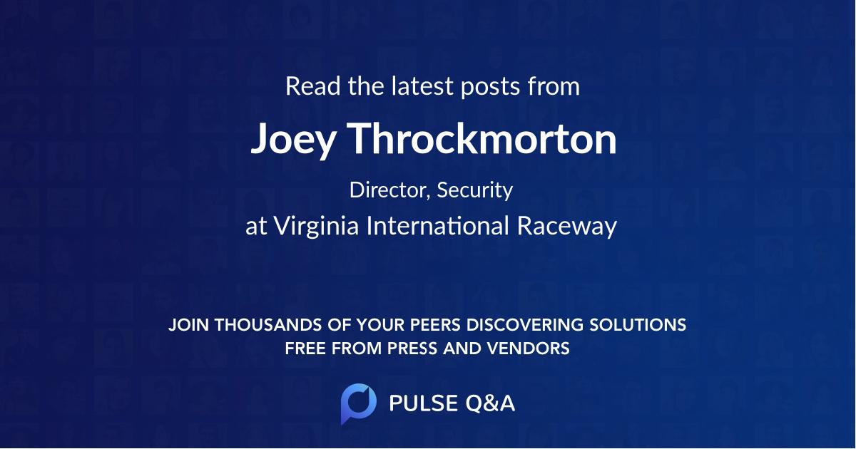 Joey Throckmorton