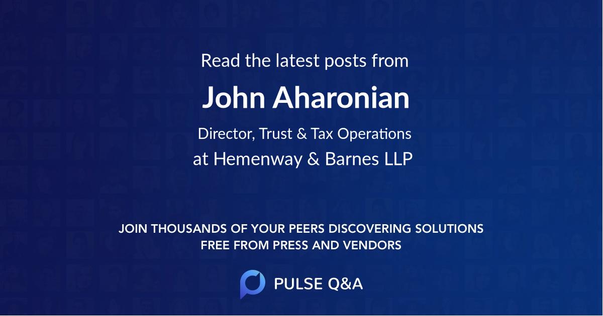 John Aharonian