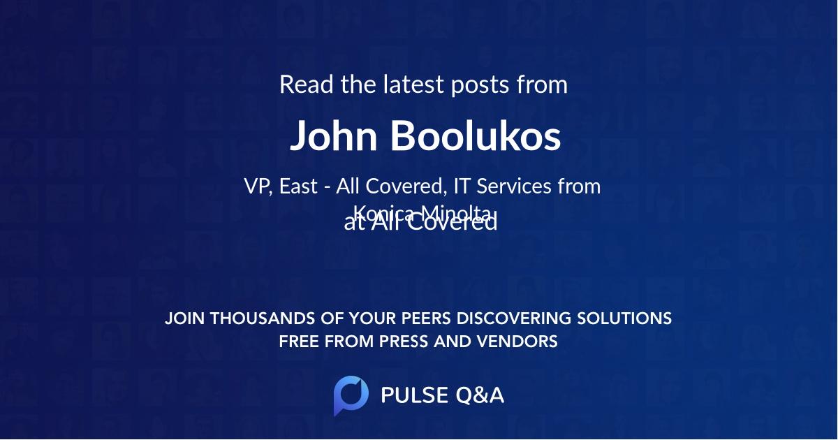 John Boolukos
