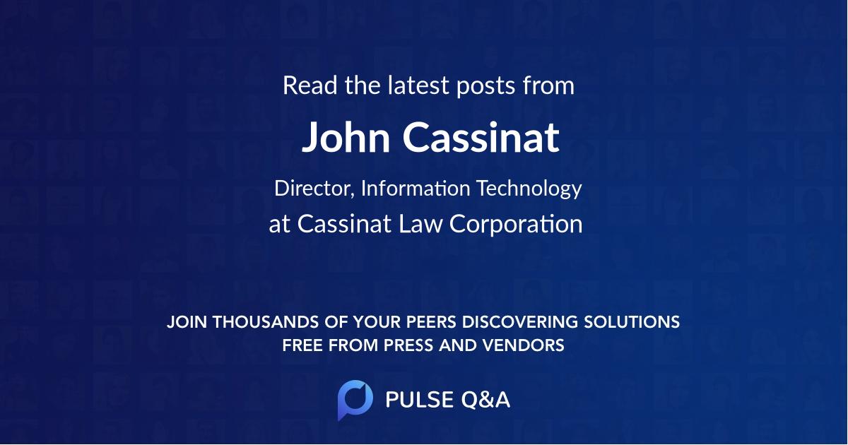 John Cassinat