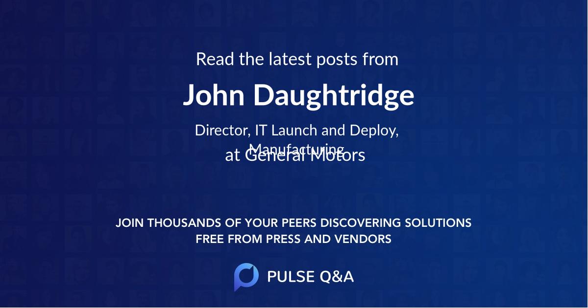 John Daughtridge