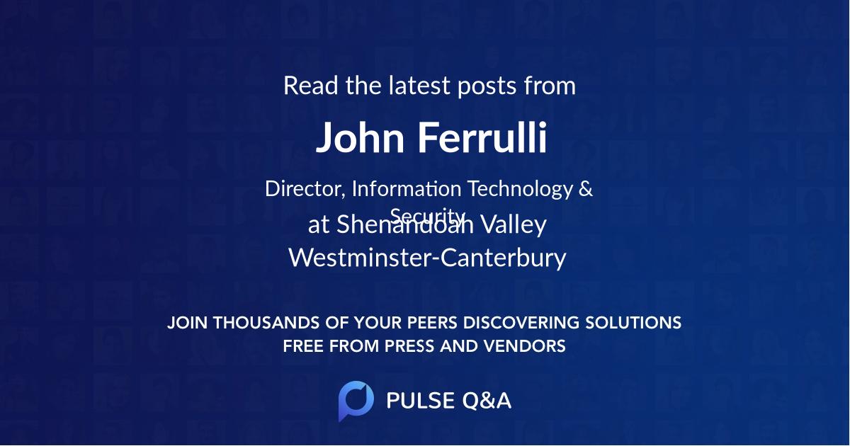 John Ferrulli