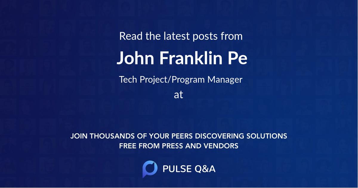 John Franklin Pe