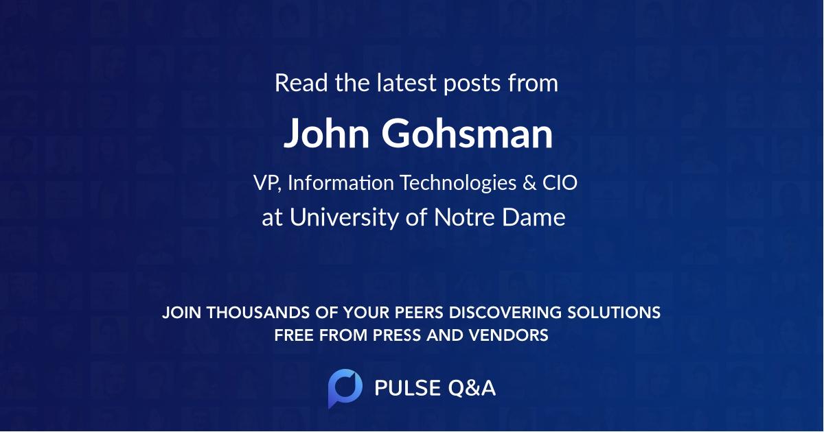 John Gohsman