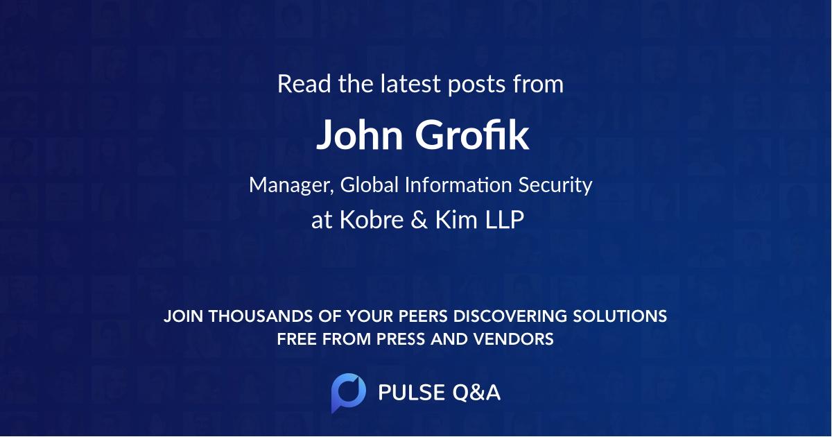 John Grofik