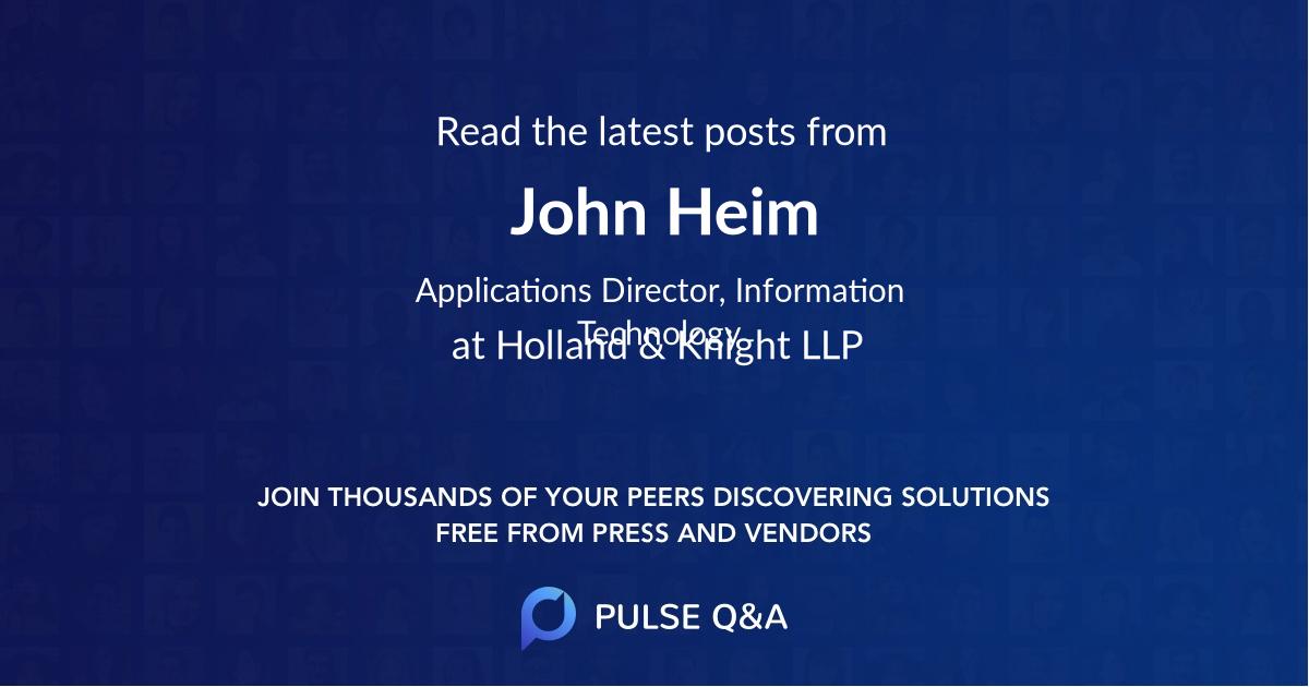 John Heim