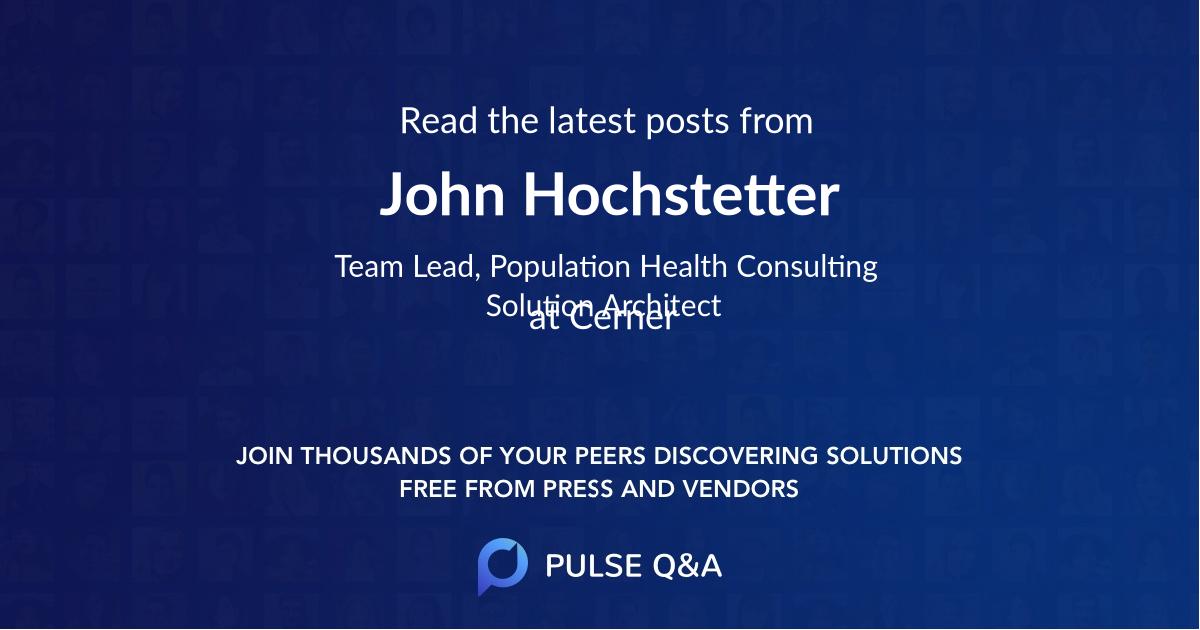 John Hochstetter