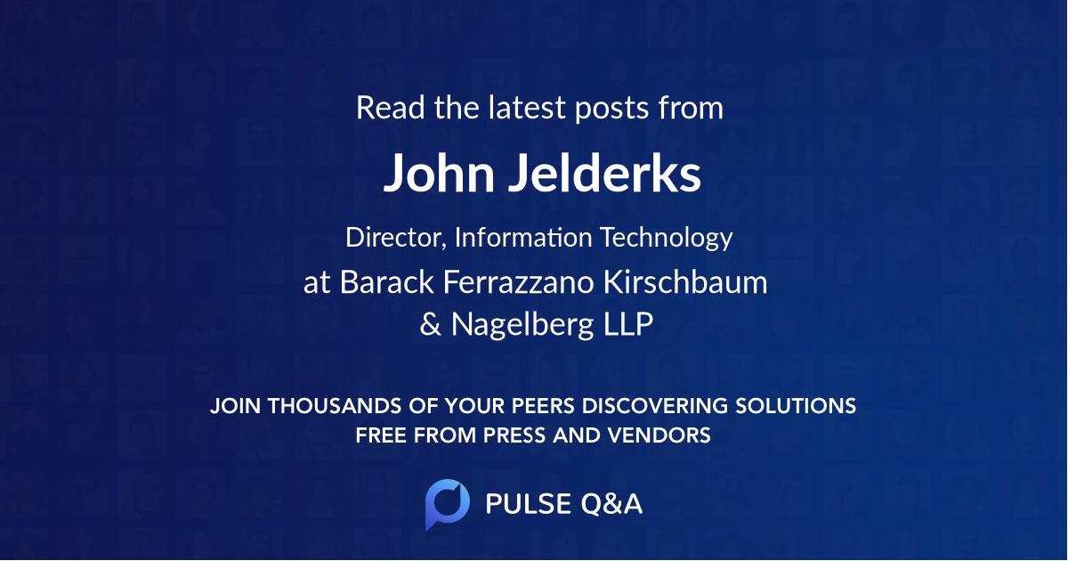 John Jelderks