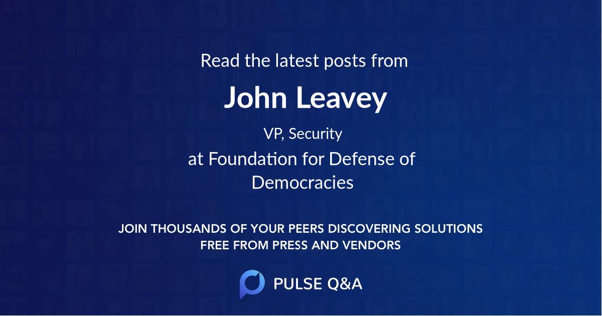 John Leavey
