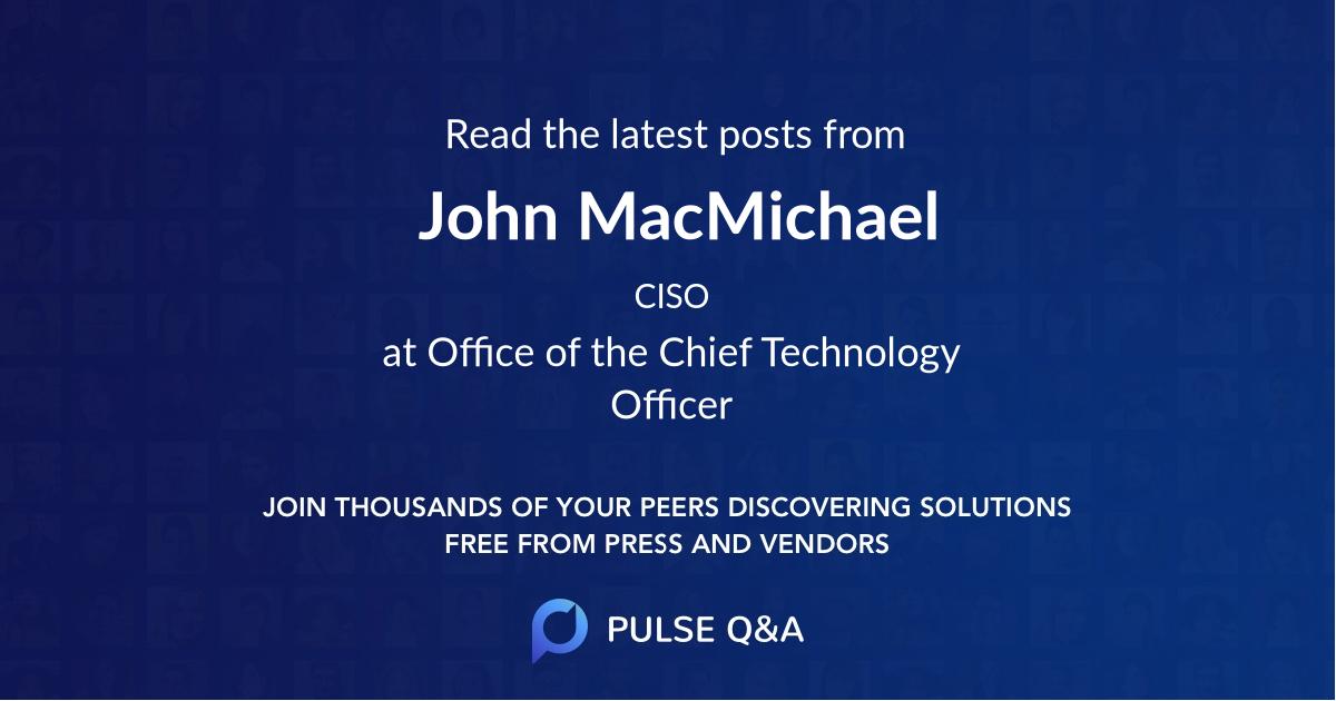 John MacMichael
