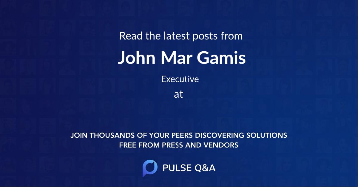John Mar Gamis