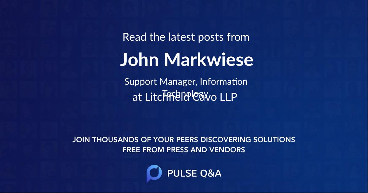 John Markwiese