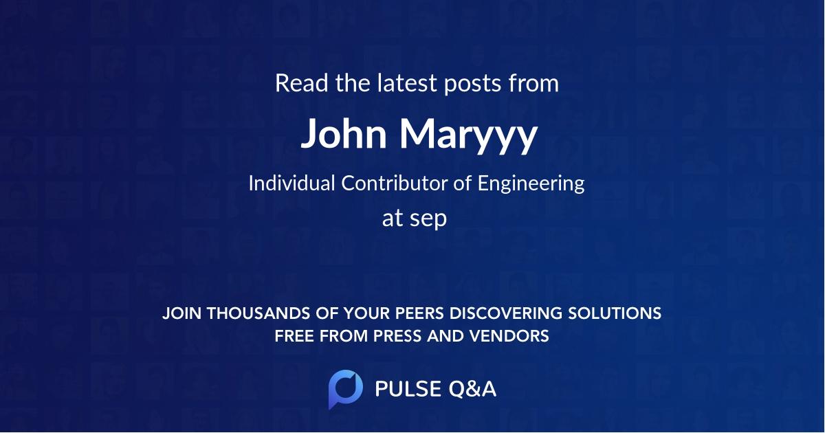 John Maryyy