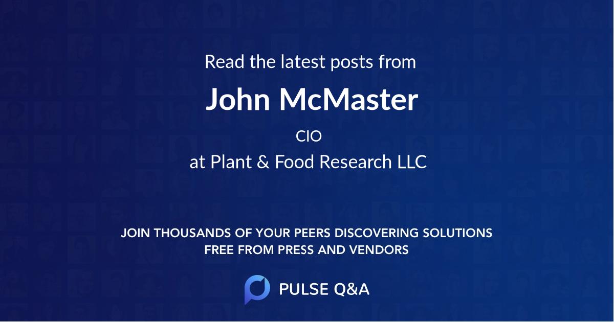 John McMaster
