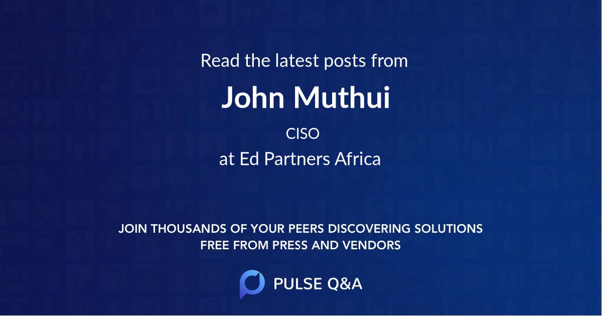 John Muthui