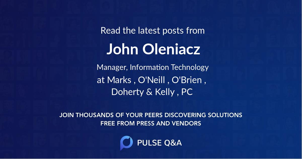 John Oleniacz