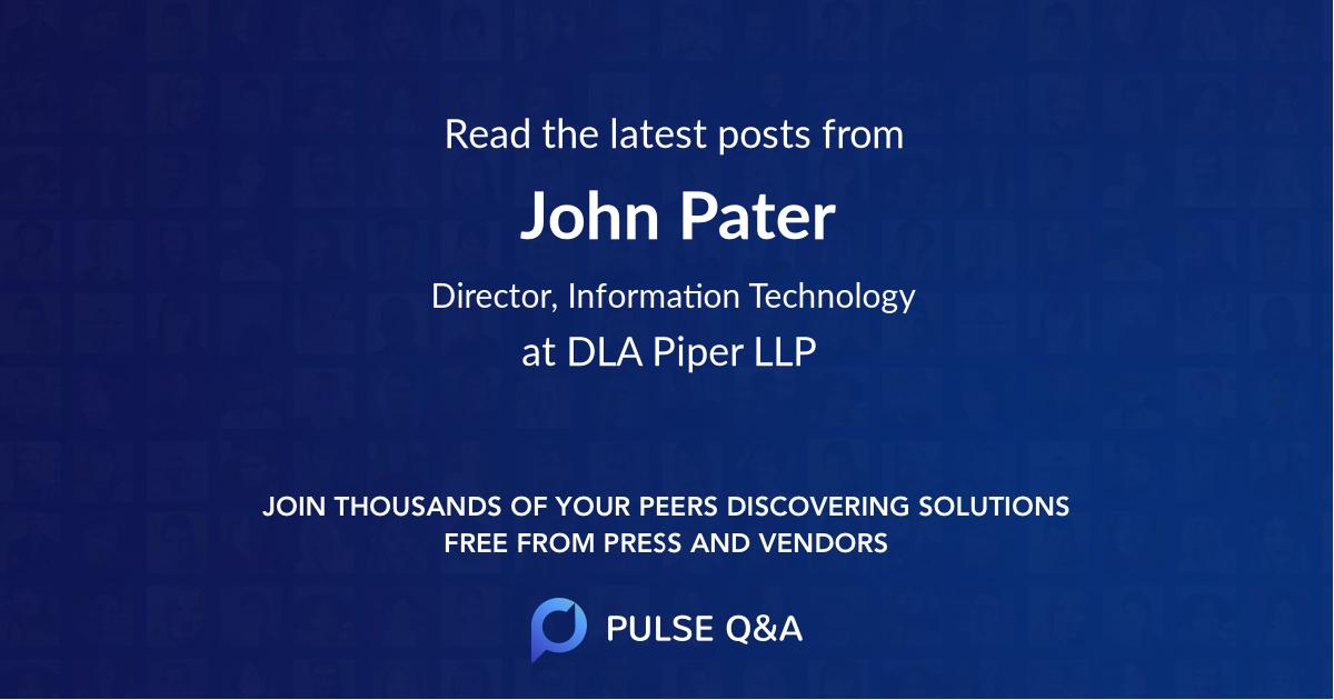 John Pater