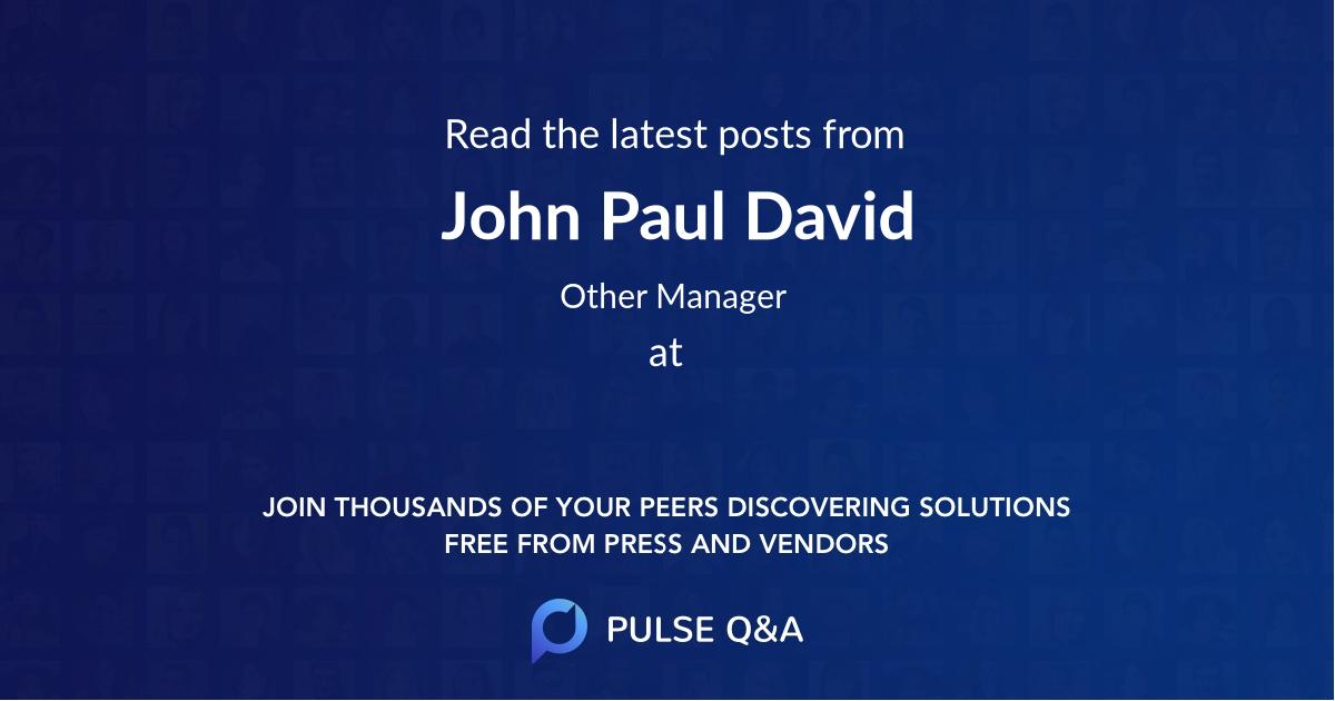 John Paul David
