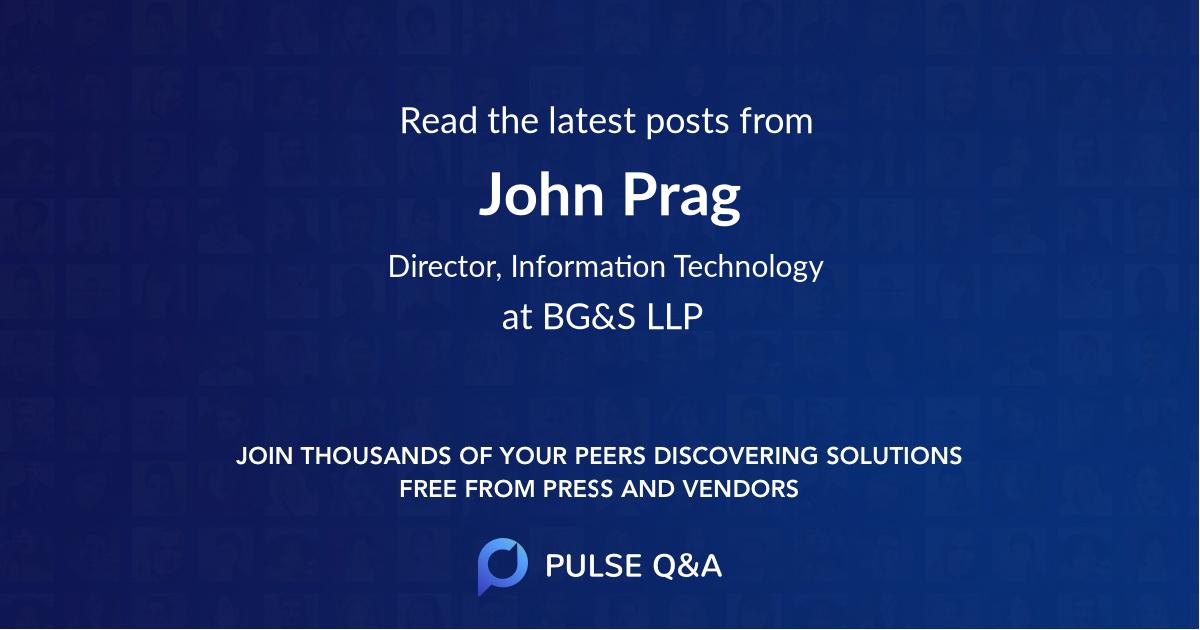 John Prag