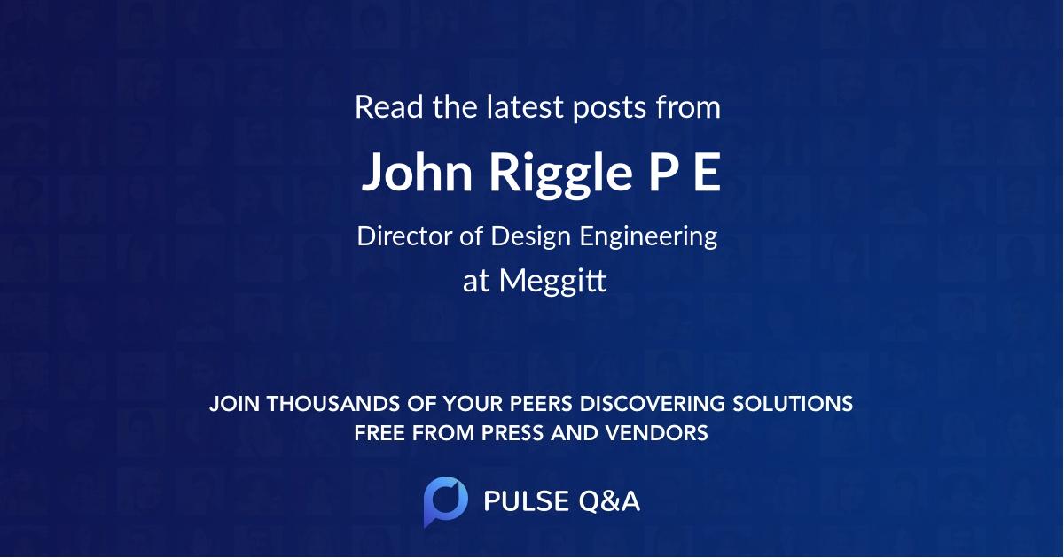 John Riggle P. E.