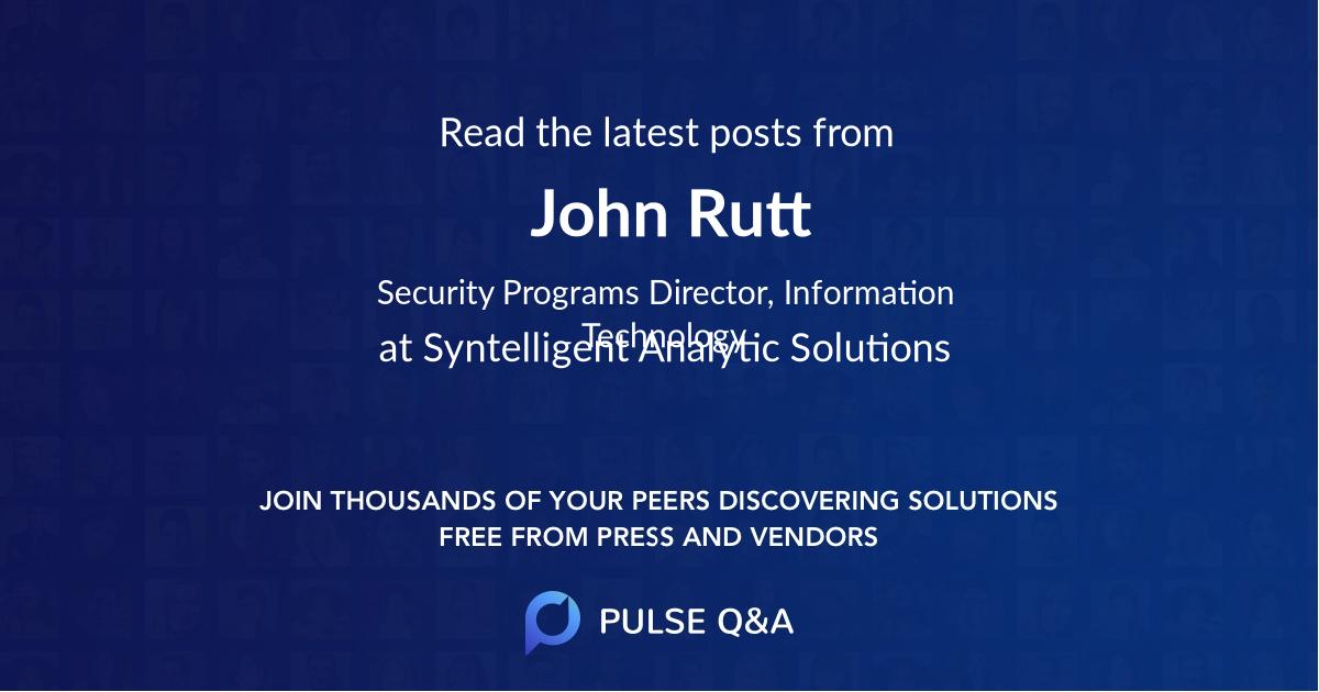 John Rutt