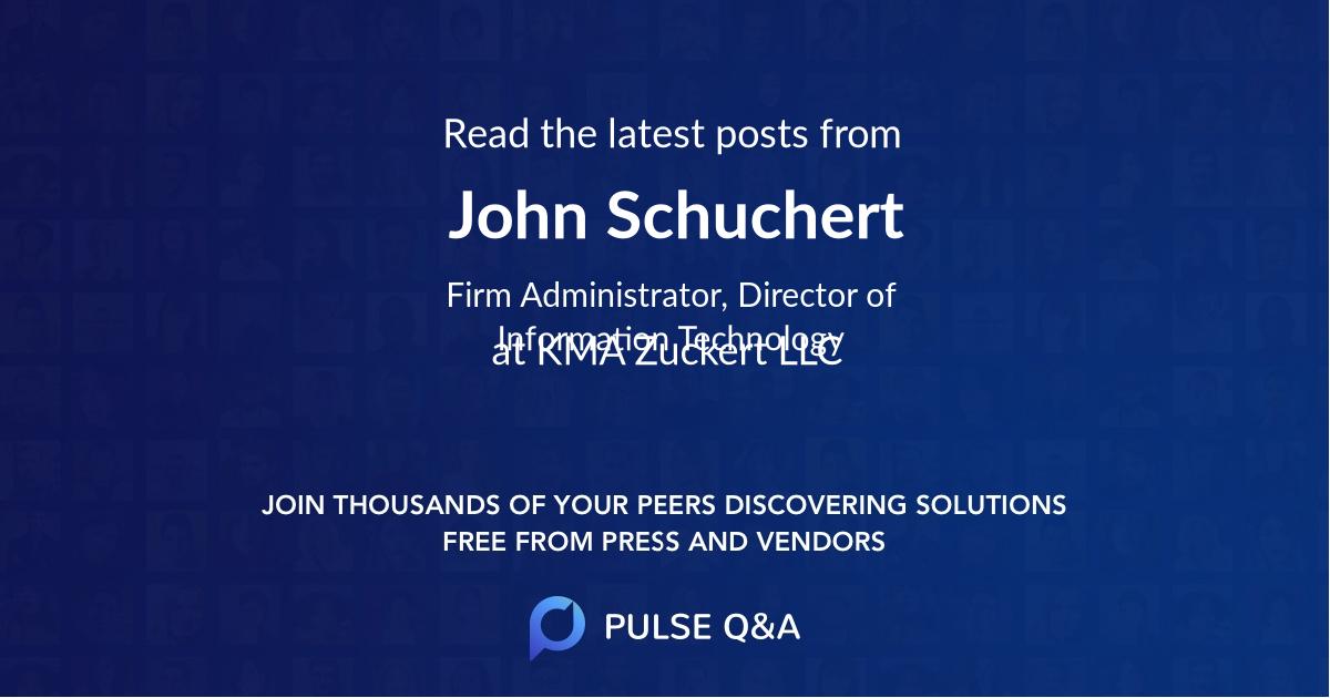 John Schuchert