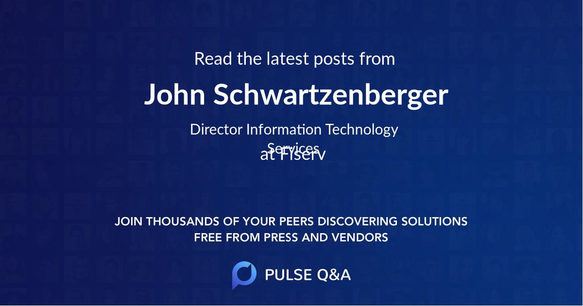 John Schwartzenberger