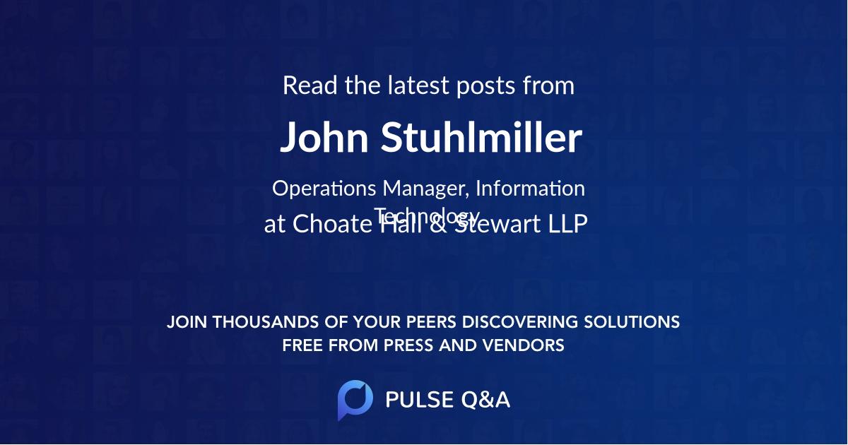John Stuhlmiller