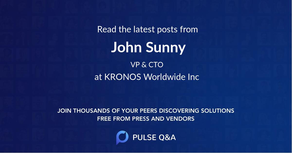 John Sunny