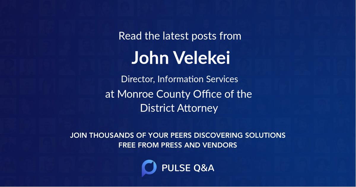 John Velekei
