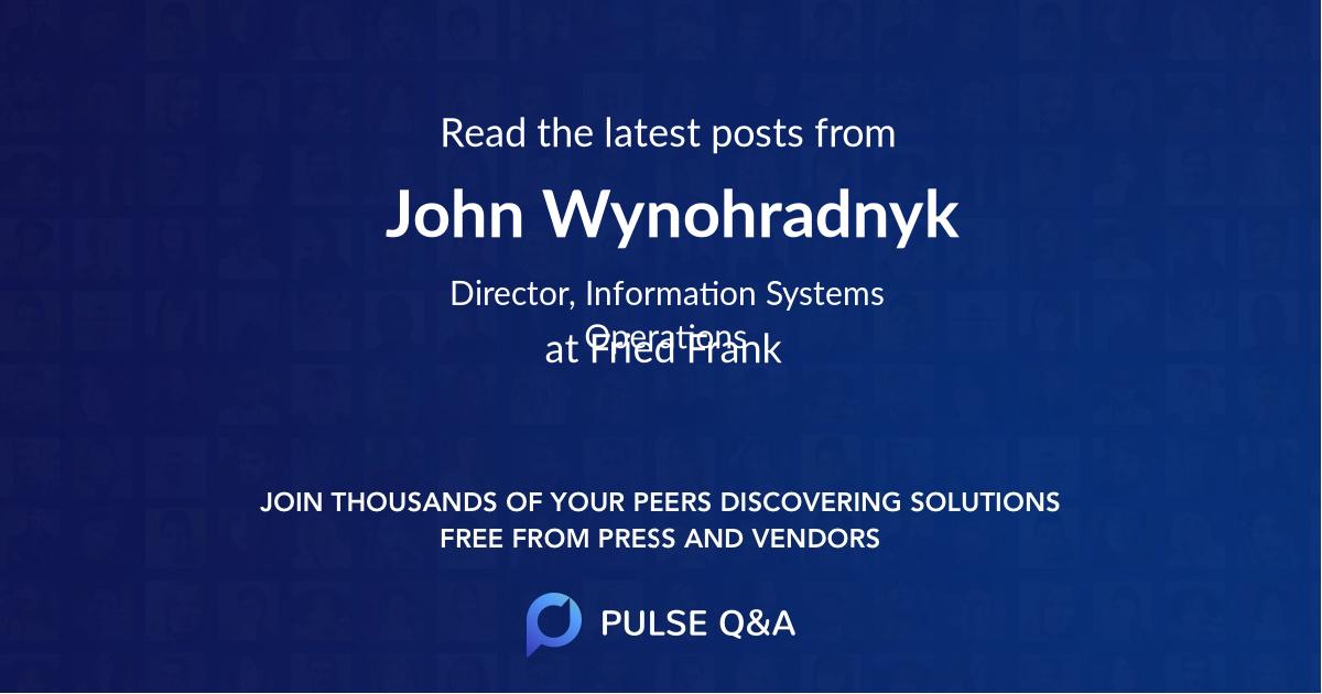 John Wynohradnyk