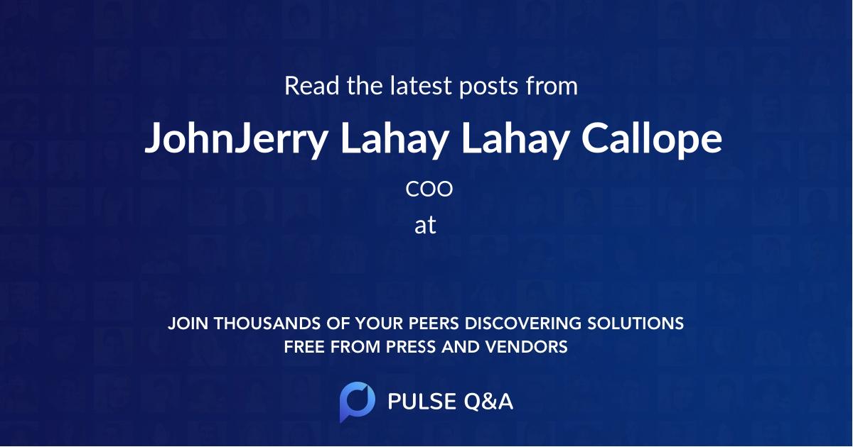 JohnJerry Lahay Lahay Callope