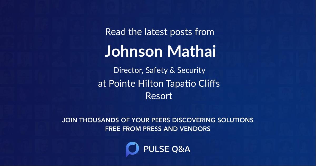 Johnson Mathai