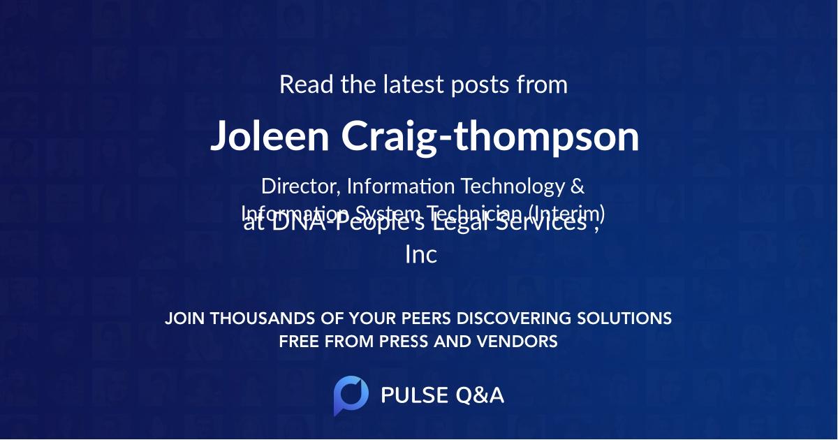 Joleen Craig-thompson