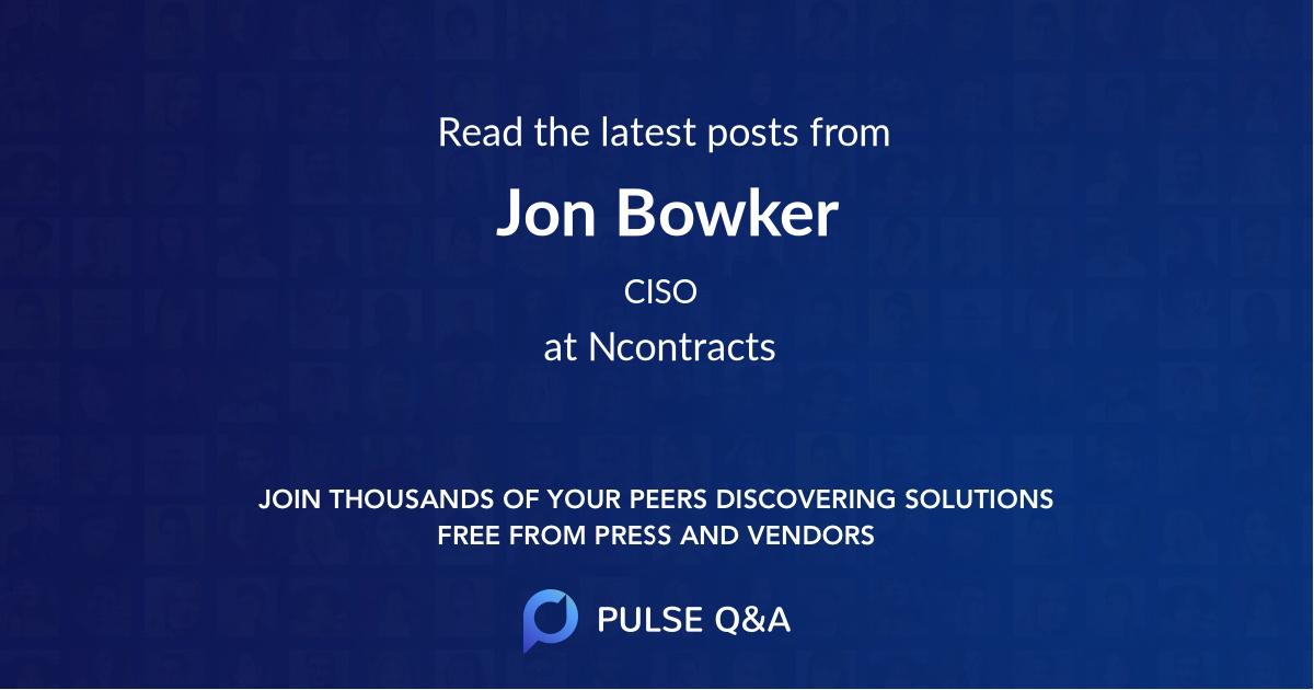 Jon Bowker