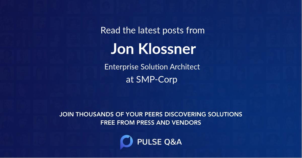 Jon Klossner