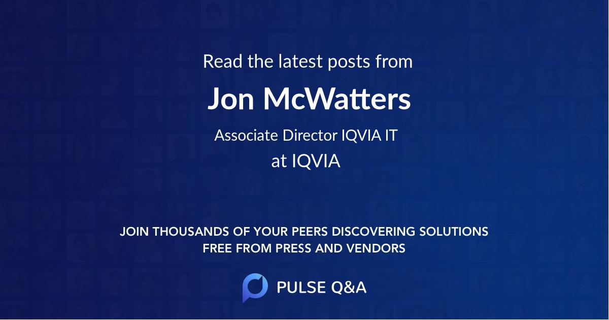 Jon McWatters