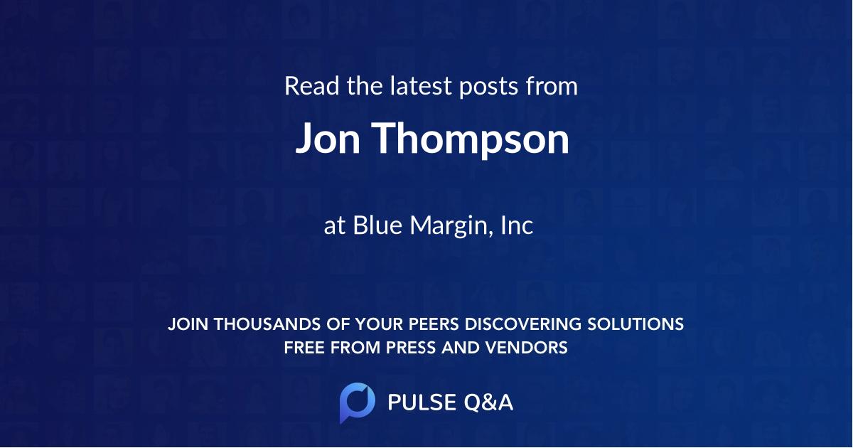 Jon Thompson