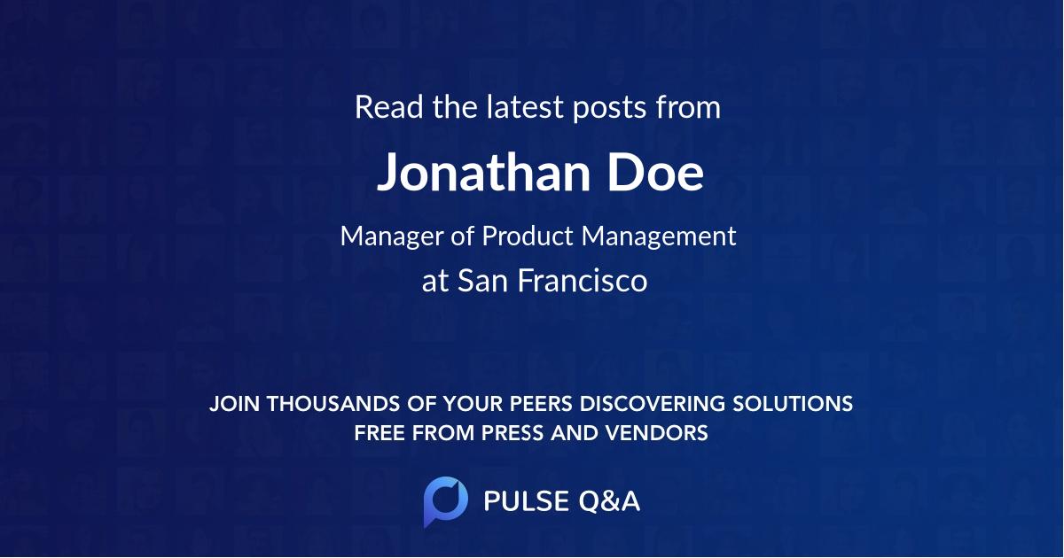 Jonathan Doe
