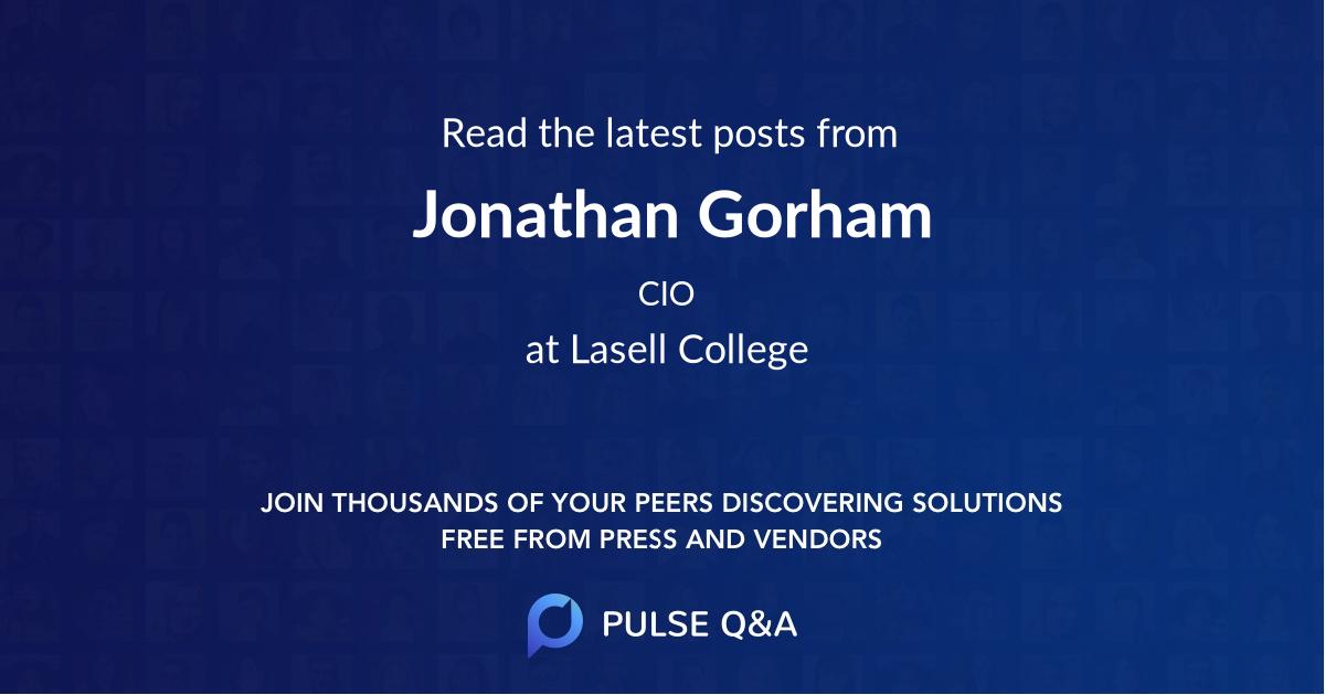 Jonathan Gorham