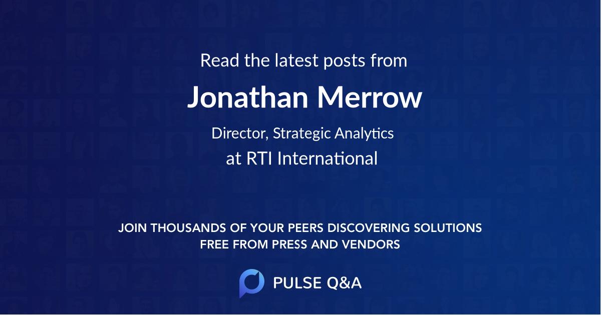 Jonathan Merrow