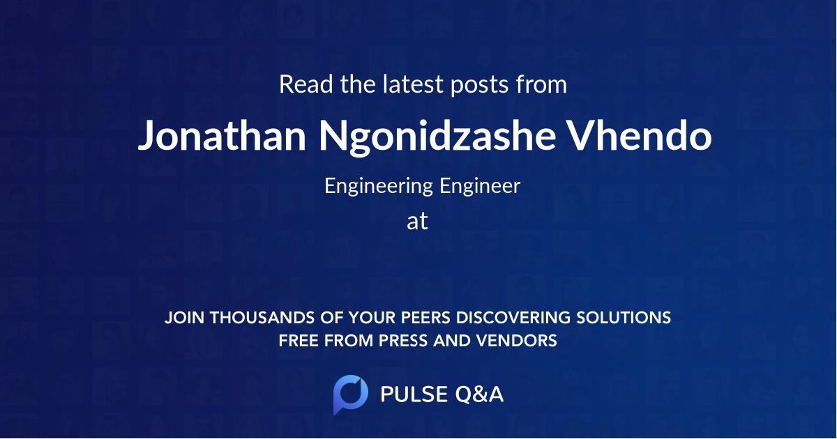 Jonathan Ngonidzashe Vhendo