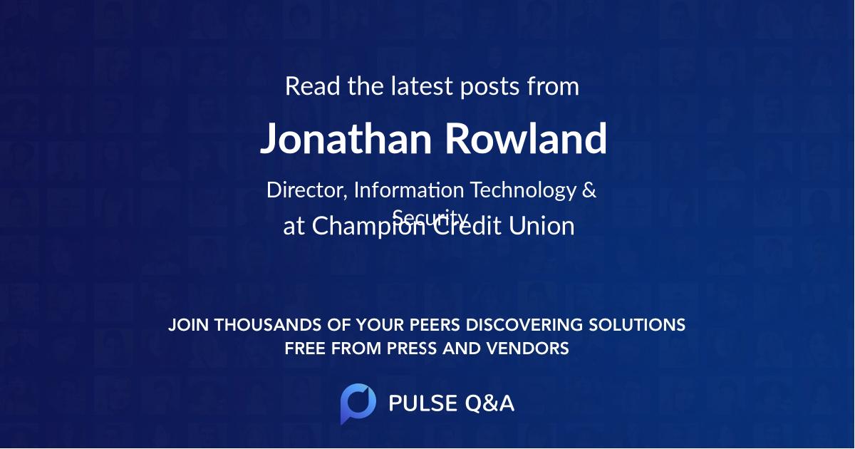 Jonathan Rowland